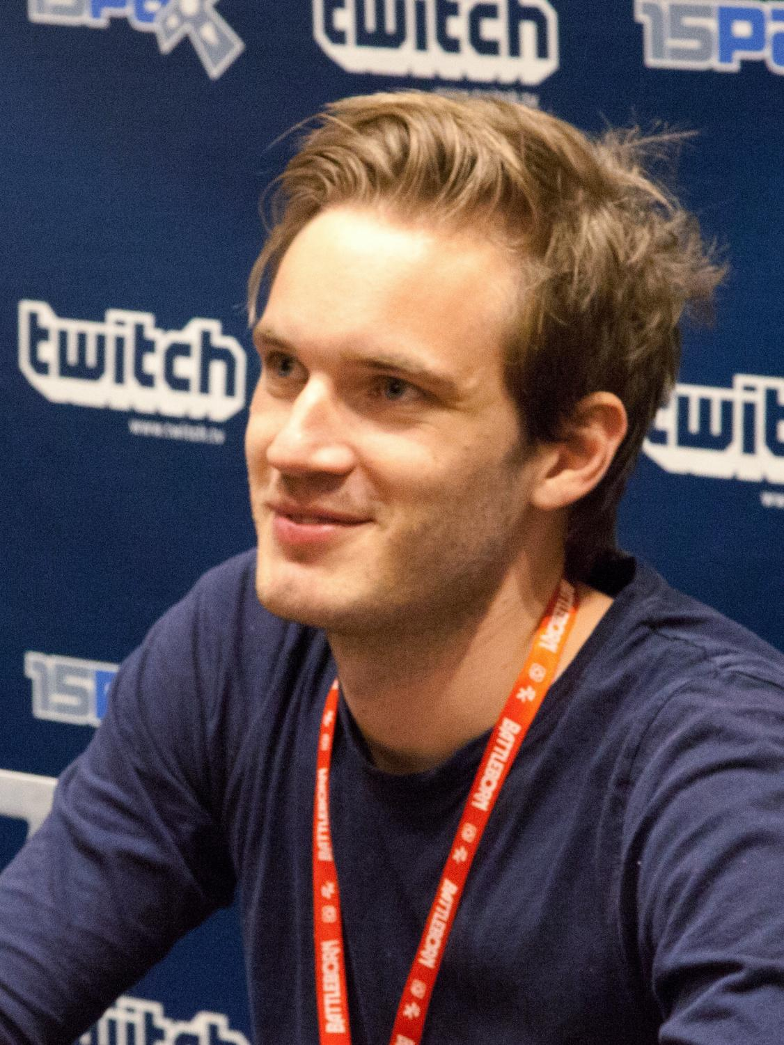 Credits to https://commons.m.wikimedia.org/wiki/File:PewDiePie_at_PAX_2015_crop.jpg