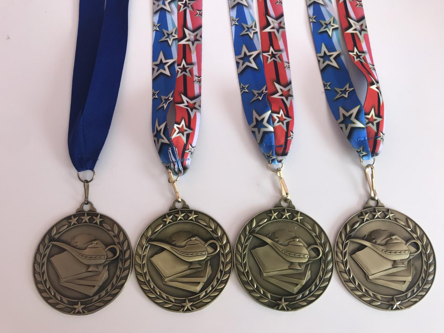A few of Emily's medals