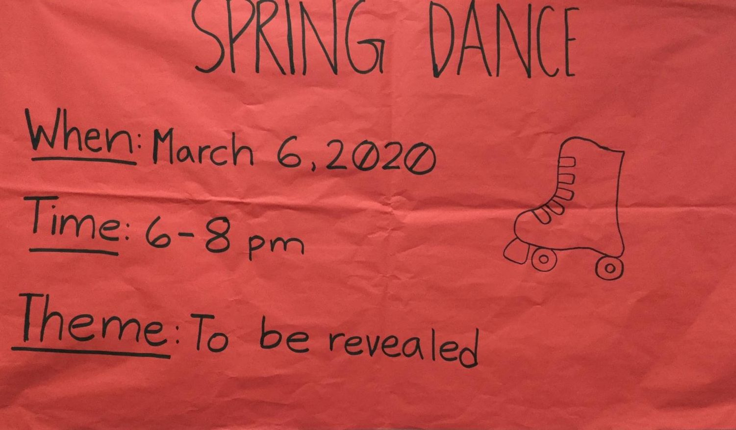 Poster of the Spring Dance