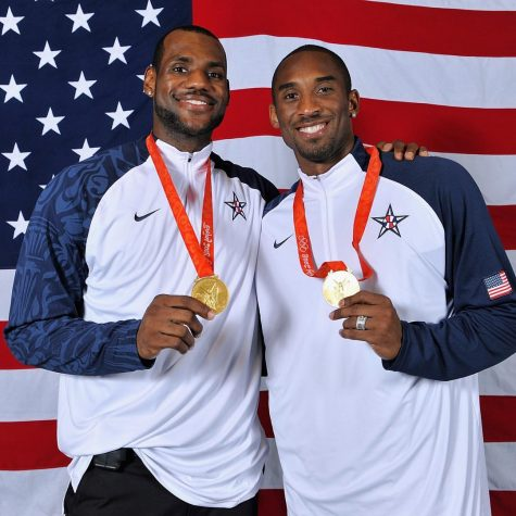 Lebron James and Kobe Bryant Celebrate Their Gold Medals at the 2008 Olympics