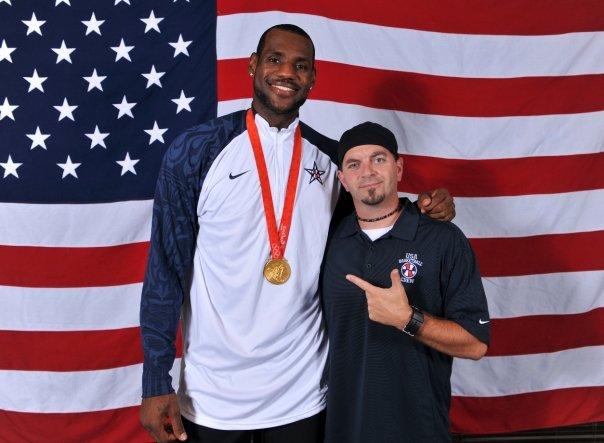 Jesse Garrabrant with NBA Gold Medalist, Lebron James