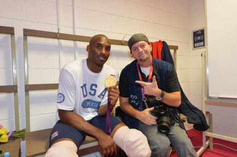 Kobe Bryant with Gold Medal and Jesse Garrabrant at Olympics