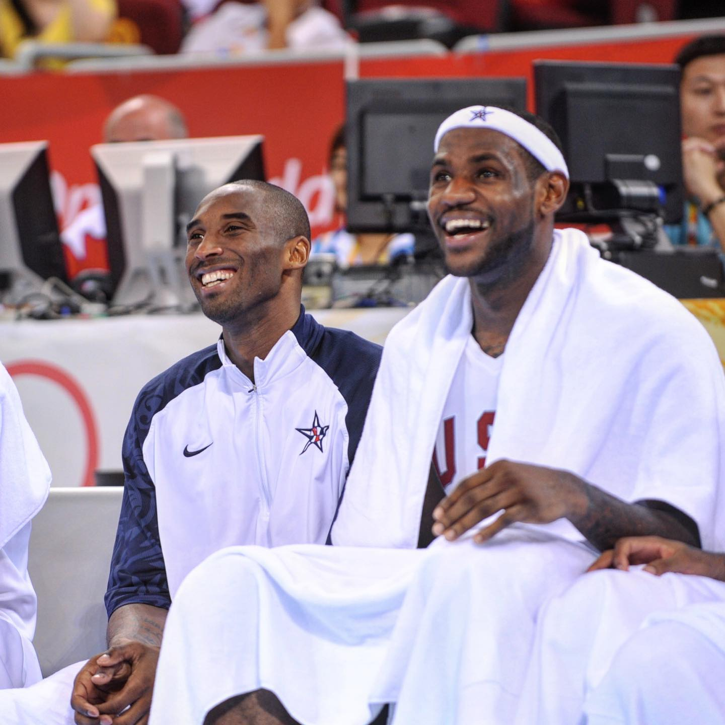 Kobe Bryant and LeBron James at Olympics