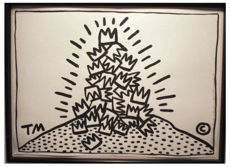Keith Haring A Pile of Crowns for JM 1988