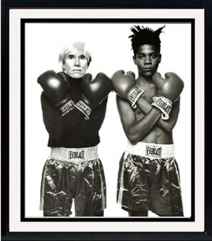 Boxer Portrait of Andy Warhol and Jean-Michel Basquiat by photographer Michael Halsband