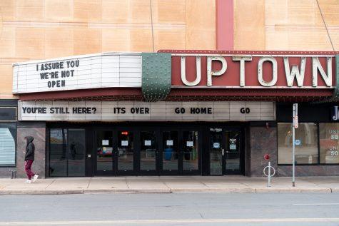 Closed Movie Theatre due to COVID-19.