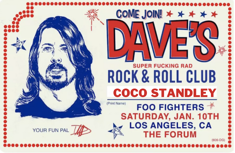 DAVE GROHL B'DAY INVITE