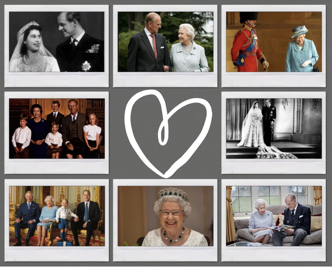 QEII + Prince Philipp Royal Family 1