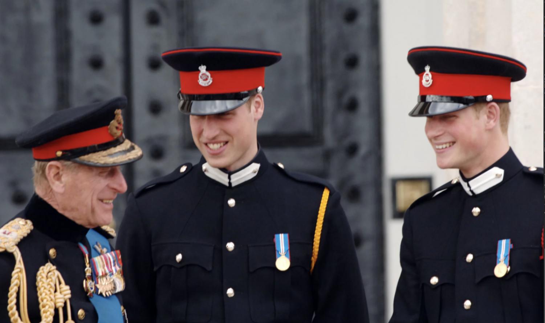 Prince Philipp, Prince Charles, Prince Harry